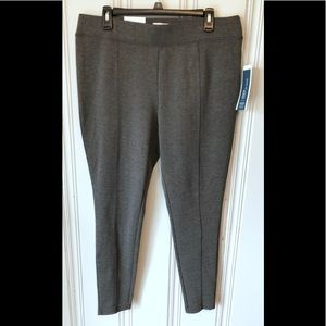 NWT Old Navy L Gray Mid Rise Leggings